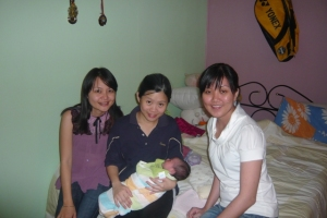 of course we also visited bb catherine... yii hong & elaine are proud parents