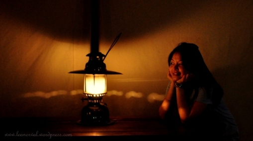 reminisce bout the lamp that we used to have in kampung