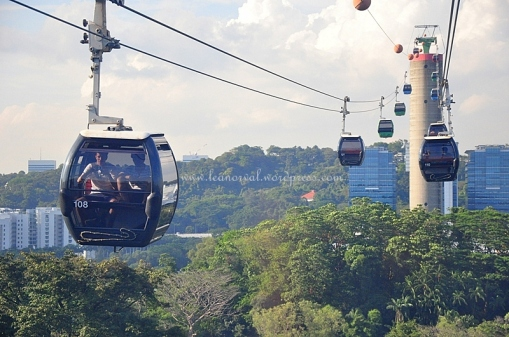 the Cable Car ride back to Sentosa station