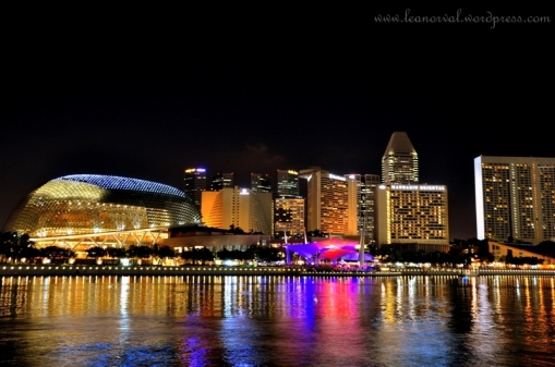 colourful singapore skylines!