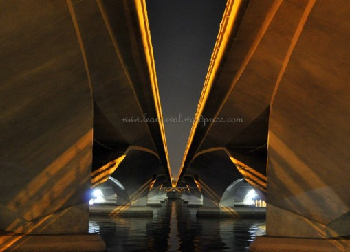 under the Esplanade Bridge *big grin*