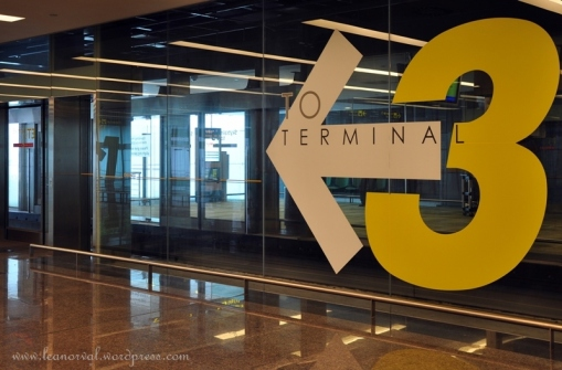 way to Terminal Three esp for SIA international flights