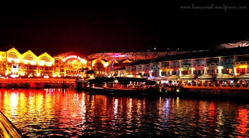 river cruise at Clark Quay (but i didnt get to go for the ride at it was already late T_T)