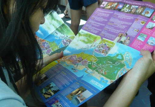 reading the map to familiarise with the location konon...