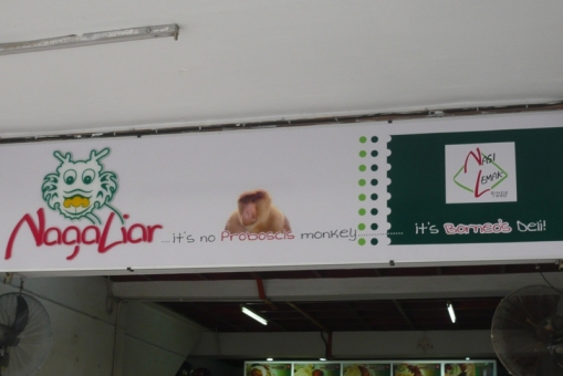 it's no proboscis monkey, it's Borneo's Deli!!