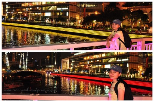 the colour changing river banks. it went yellow-red-blue-green-yellow.... (itu pun mau bagitau!)