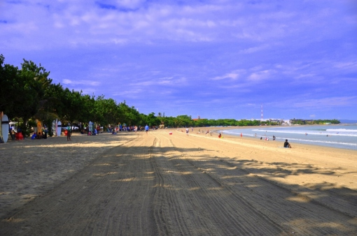 sandy beach in Kuta