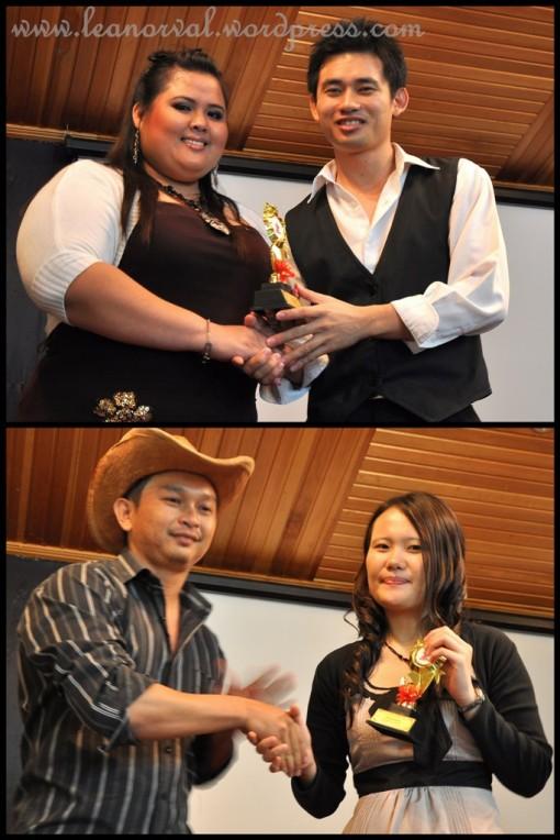 above: Yong - Anugerah Penari Lelaki Popular 2009   below: Fiona - Anugerah penari Perempuan Popular 2009