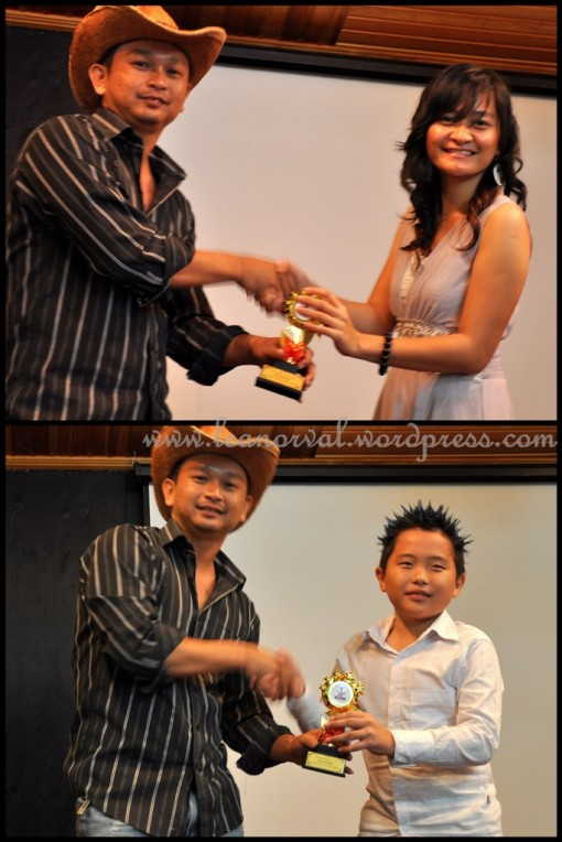 above: Diana - Anugerah Koreografer Paling Popular 2009    below: Mac Owen: Anugerah Penari Harapan Paling Popular 2009