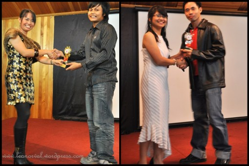left: William - Anugerah Pemusik Paling Popular 2009 right: Michael - Anugerah Altar Paling Komited 2009