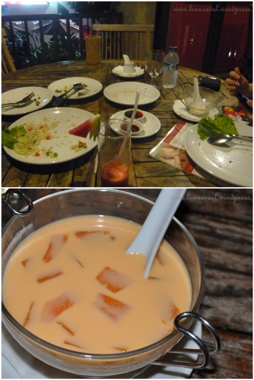 we were too hungry and too busy pigging out that we forgot to take the photos of the food. but mostly just so-so. Bottom: CMee's manggo pudding. Ok lah!