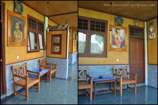 left: Ksiong's room    right: the ladies'  and also where we had our breakfast (look at the lady on the wall... eeee.... spooky)