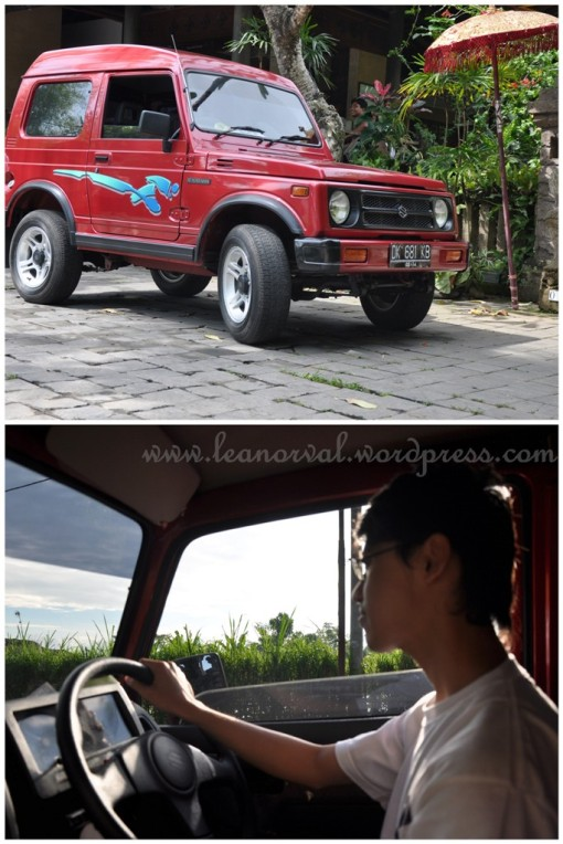 top: our rented jeep    below: the driver :p