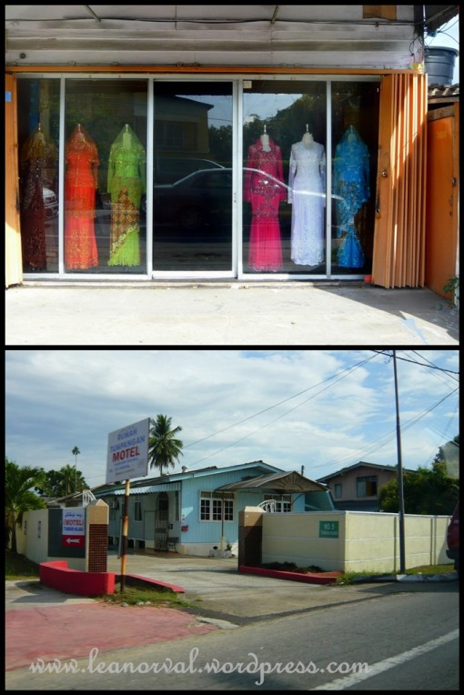 photos taken from a moving taxi. what i saw along the way to the hotel. wah!! i was actually in kelantan! sakai!