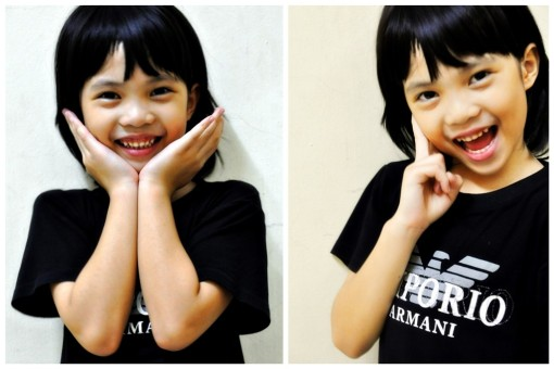 Abisadj Kee... 7 y/o. yeah!! she was born to be a poser :p i wasnt surprise at all. taken during my recent visit to Kch.