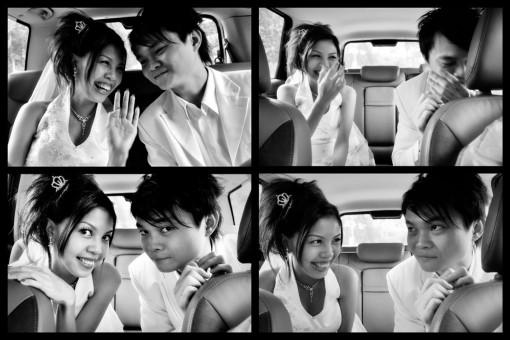 drama in the car.... haha!!