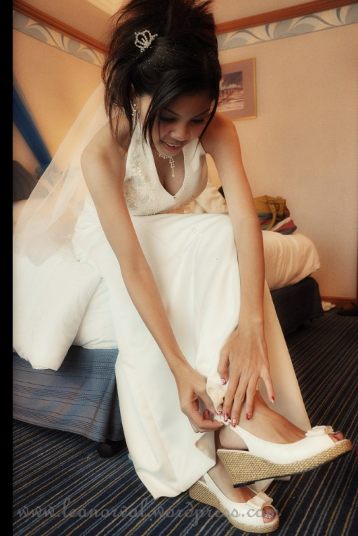 Juncy with her wedges...